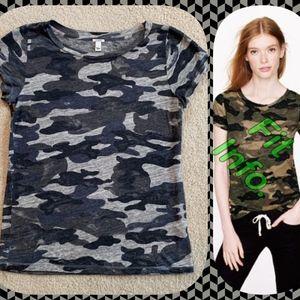 J.Crew Camo T-Shirt, Black/Gray